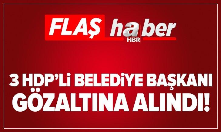 HDP'Lİ 3 BELEDİYE BAŞKANINA TERÖR GÖZALTISI!