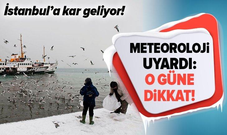 İSTANBUL'A KAR GELİYOR! METEOROLOJİ TARİH VERDİ...