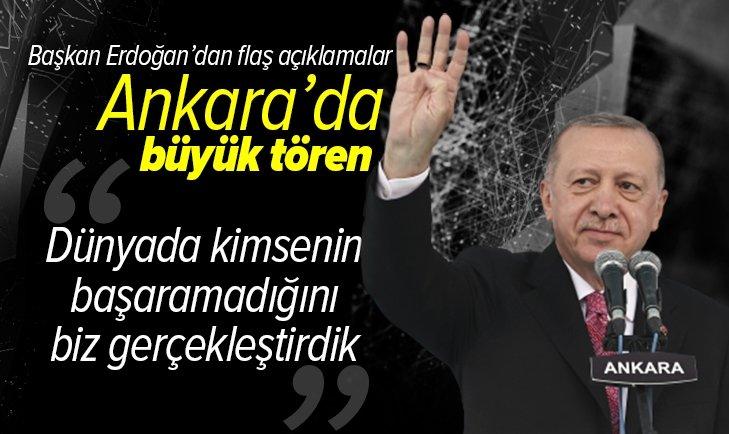 Son dakika: Başkan Erdoğan: Dünyada kimsenin başaramadığını gerçekleştirdik