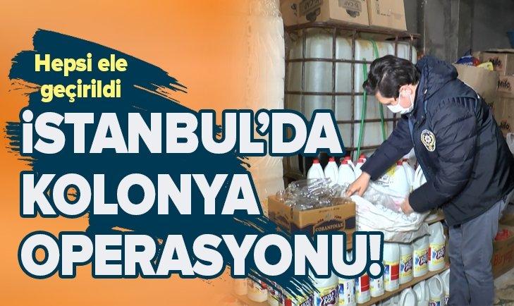 İSTANBUL'DA SAHTE KOLONYA VE DETERJAN OPERASYONU