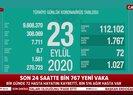 Son dakika: Türkiyenin 23 Eylül koronavirüs verileri açıklandı