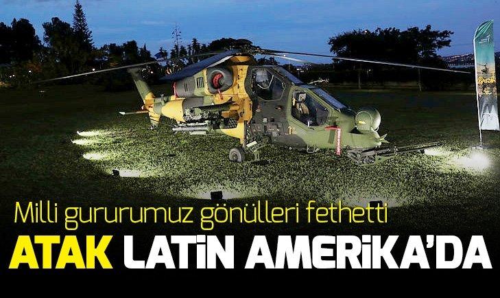 Türk helikopteri ATAK Latin Amerika'da büyük beğeni topladı!