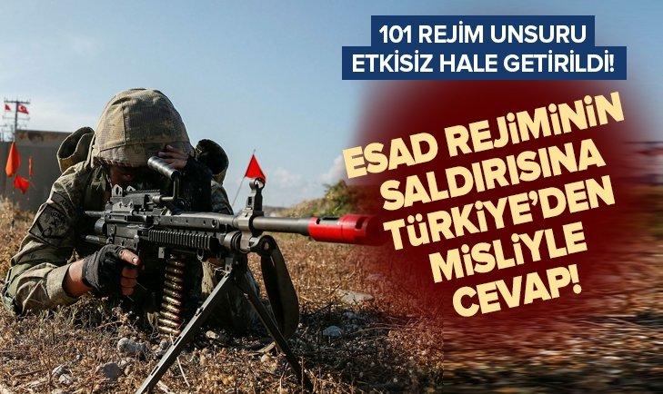 Esad rejiminin İdlib saldırısına Türkiye'den misliyle cevap!