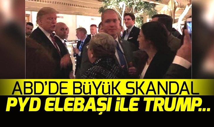ABD'DE BÜYÜK SKANDAL! PYD ELEBAŞI İLE TRUMP...
