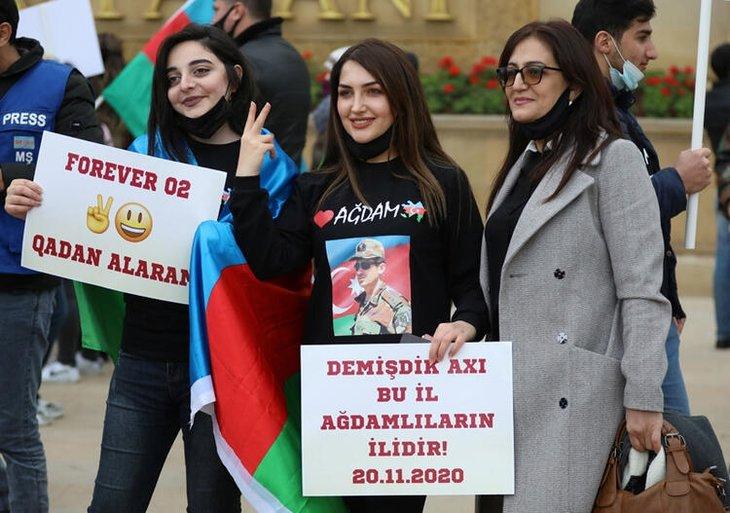 Azerbaycan ordusu 27 yıl sonra kritik bölgeye girdi! Uluslararası ajanslar bu kareleri geçti