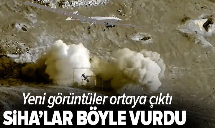 Türk SİHA'ları böyle vurdu! Görüntüler yayınlandı