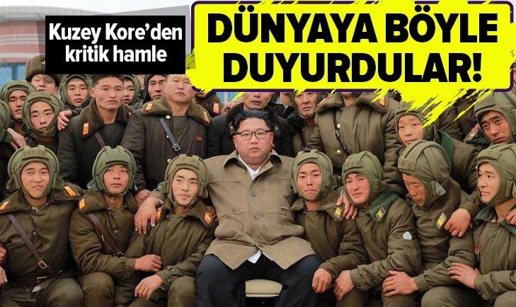 KUZEY KORE'DEN KRİTİK HAMLE! BÖYLE DUYURDULAR