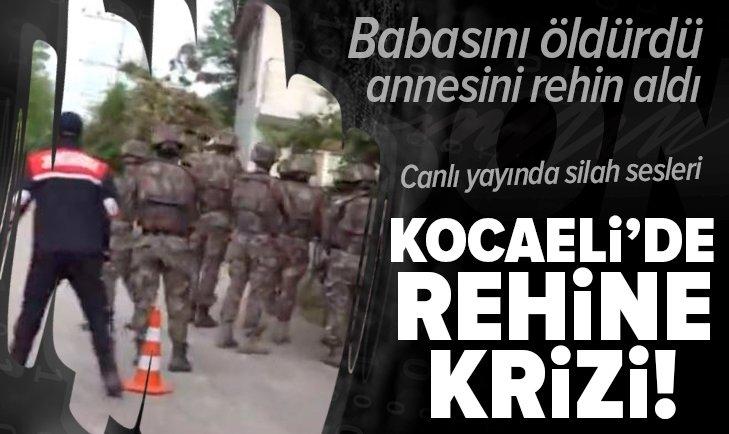 Kocaeli'de rehine krizi! Canlı yayında silah sesleri