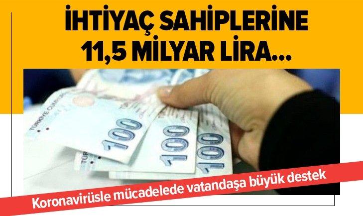 İhtiyaç sahiplerine 11,5 milyar lira destek