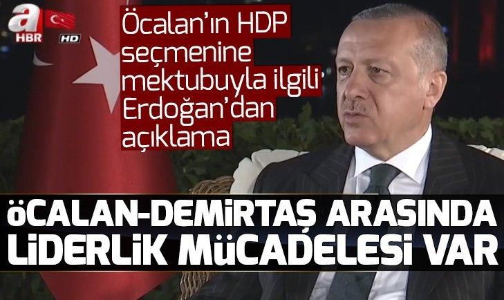 Öcalan'ın mektubuyla ilgili Başkan Erdoğan'dan açıklama