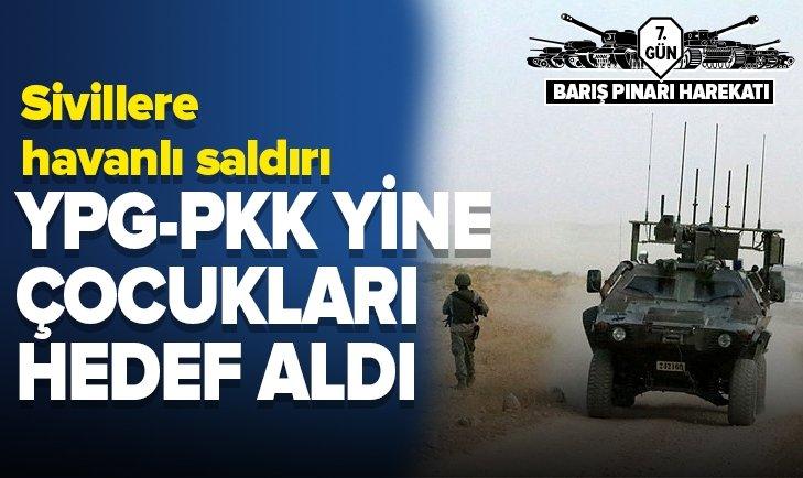 YPG/PKK, HAVANLARLA CERABLUS'TAKİ ÇOCUKLARI VURDU: 3 YARALI