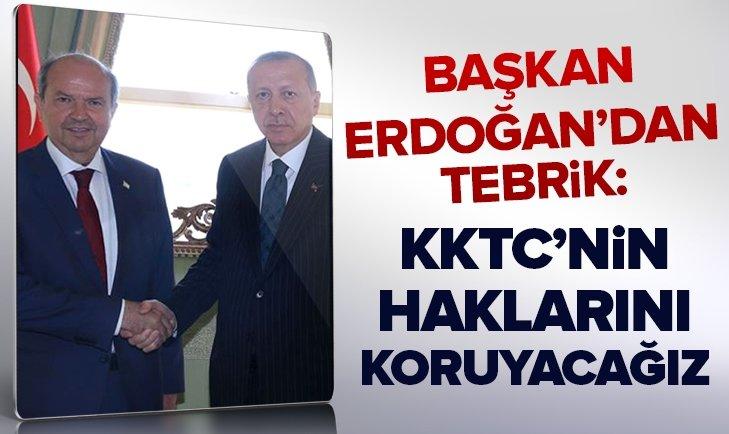 Başkan Erdoğan'dan Ersin Tatar'a tebrik