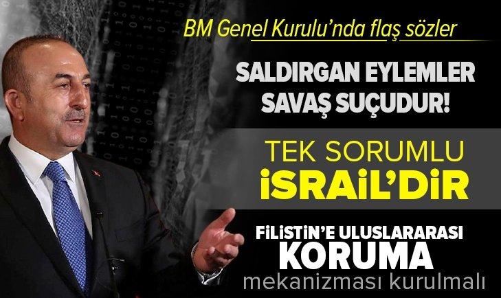 Dışişleri Bakanı Çavuşoğlu'ndan flaş Filistin açıklaması
