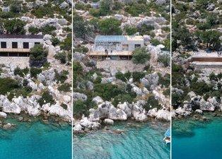 Cennet koydaki kaçak villanın yıkımı tamamlandı! Salgını fırsat bilip 48 saatte yapmıştı