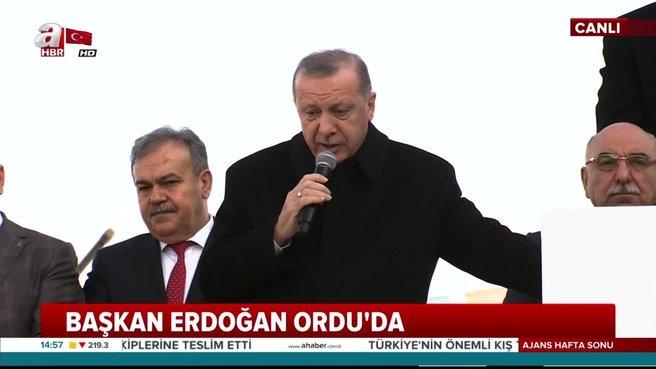 Başkan Erdoğan'dan Ordu'da önemli açıklamalar