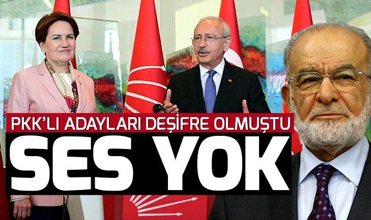 Akşener, Kılıçdaroğlu ve Karamollaoğlu PKK'lı aday skandalı sonrası kayıplara karıştı