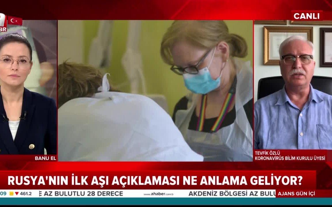 Rusya Covid-19 aşını tescil etti Bilim Kurulu Üyesi Tevfik Özlü 'heyecan  verici' dedi | flaş haber ahaber canlı yayın son dakika - AHaber Son Dakika  Video İzle