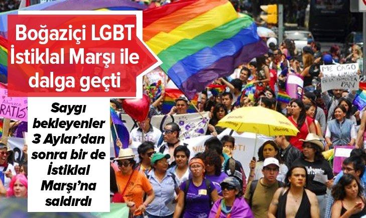 BOĞAZİÇİ ÜNİVERSİTESİ LGBT KULÜBÜ'NDEN İSTİKLAL MARŞI'NA SALDIRI
