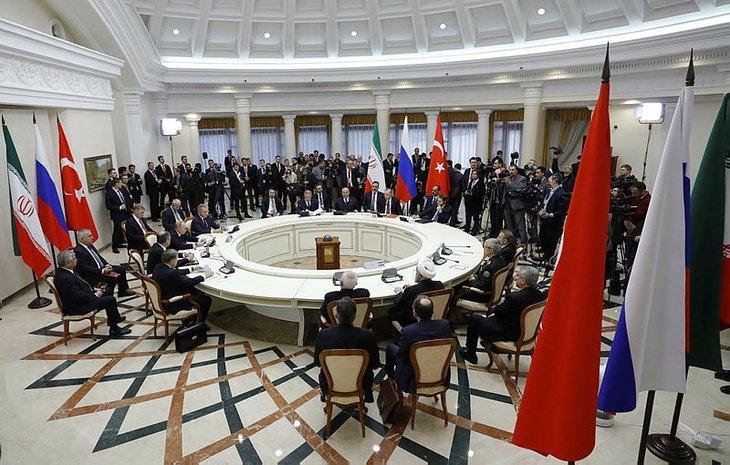 Erdoğan, Putin ve Ruhani zirvesinden kareler