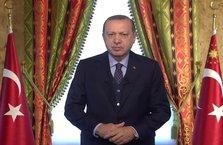Cumhurbaşkanı Erdoğan, Kudüs mitingine telekonferansla bağlandı