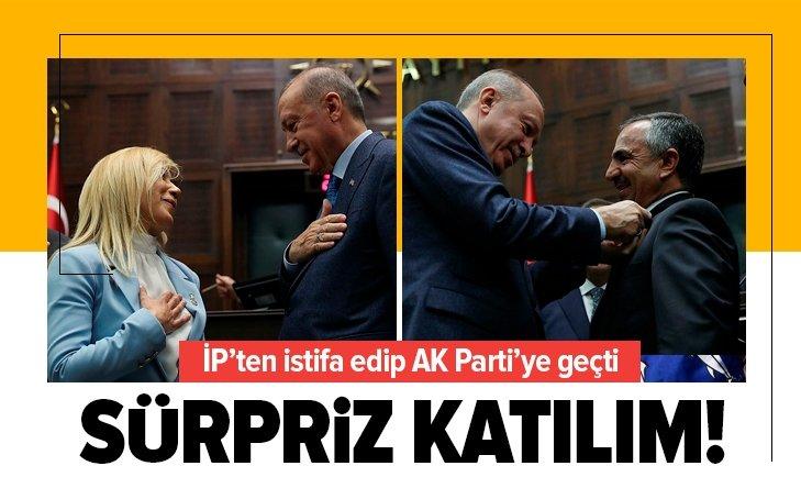 İşte AK Parti'ye geçen isimler! Rozetlerini Erdoğan taktı