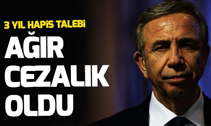 CHP'li Mansur Yavaşa 3 yıl hapis talebi!