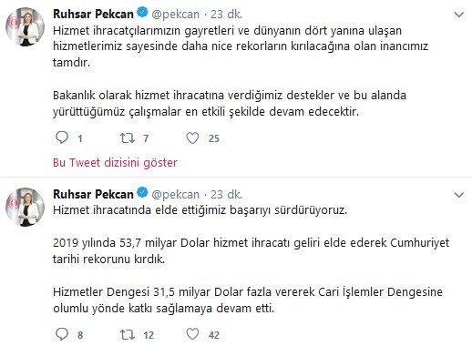 """Ticaret Bakanı Ruhsar Pekcan açıkladı! """"Cumhuriyet tarihi rekorunu kırdık"""""""