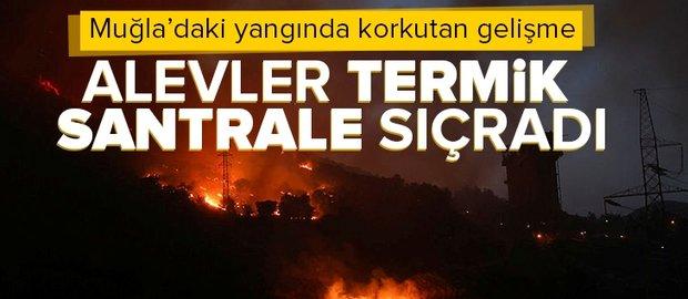Son dakika: Milas'ta yangın: Alevler Kemerköy Termik Santrali'ne sıçradı