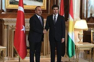 Mevlüt Çavuşoğlu Neçirvan Barzani ile bir araya geldi