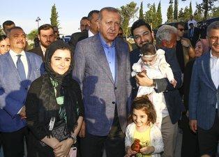 Başkan Erdoğan, Nakkaştepe Millet Bahçesi'ni gezdi
