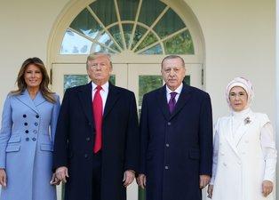 Başkan Erdoğan - Trump görüşmesinden dikkat çeken kareler