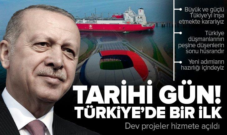 Başkan Erdoğan dev projeleri hizmete açtı