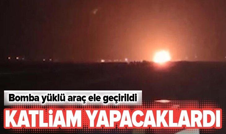 BOMBA YÜKLÜ ARAÇ ELE GEÇİRİLDİ!