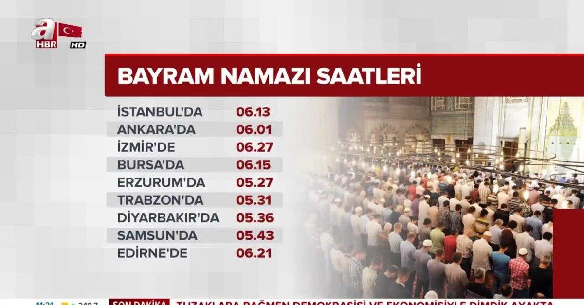 Istanbul Da Bayram Namazi Saat Kacta Iste Il Il 2019 Yili Bayram Namazi Saatleri Video