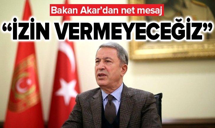 MİLLİ SAVUNMA BAKANI HULUSİ AKAR'DAN ÖNEMLİ AÇIKLAMA!