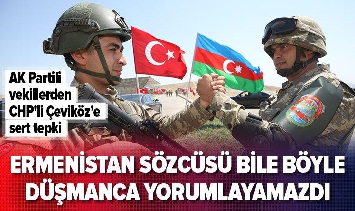 AK Partili vekillerden CHP'li Çeviköz'e tepki