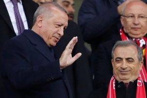 Başkan Erdoğan, Türkiye-Moldova maçında