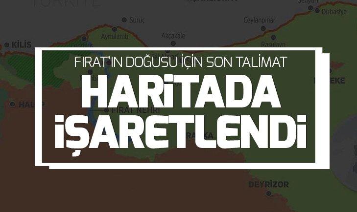 Haritada işaretlendi! TSK, Fırat'ın doğusunda 150 stratejik hedefe kilitlendi