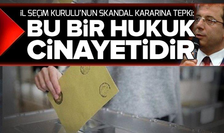Mehmet Metiner'den İl Seçim Kurulu'na tepki: Bu bir hukuk cinayetidir