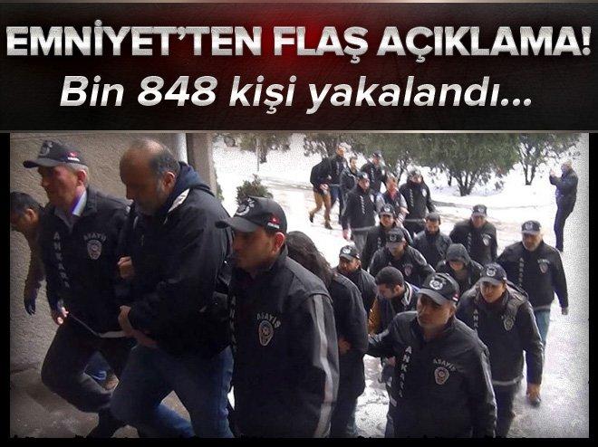 81 İLDE 12 BİN 420 POLİSLE EŞ ZAMANLI OPERASYON