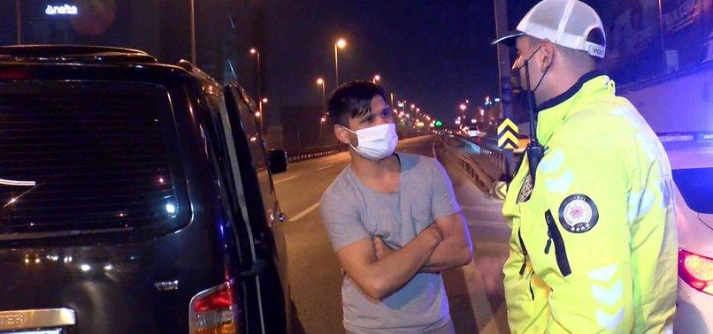 İstanbul'da pes dedirten olay: Sokağa çıkma kısıtlamasında ehliyetsiz ve alkollü olarak yakalandı