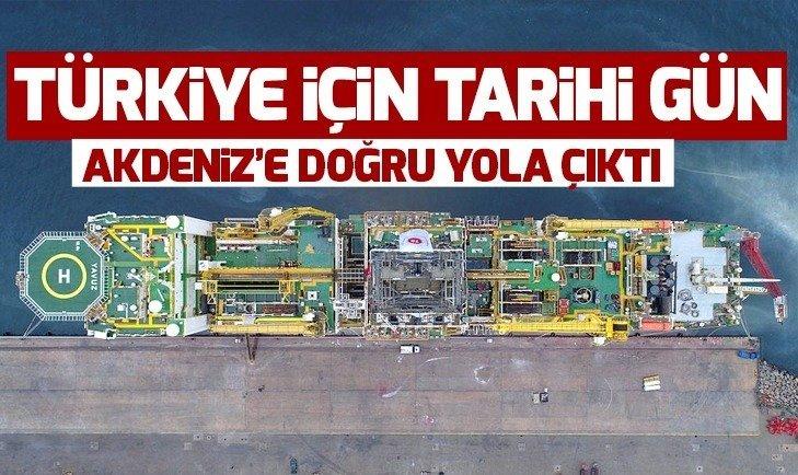 TÜRKİYE'NİN İKİNCİ SONDAJ GEMİSİ UĞURLANDI