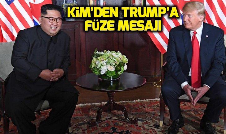 KUZEY KORE'DEN ABD'YE FÜZE DENEMESİ MESAJI