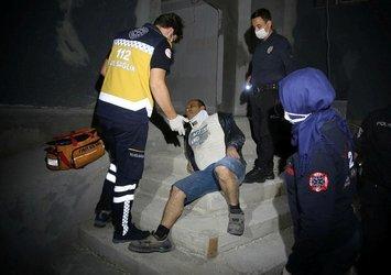 Son dakika: Polisten kaçmaya çalışırken birinci kattan düştü