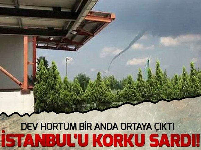 İstanbul'da hortum paniği