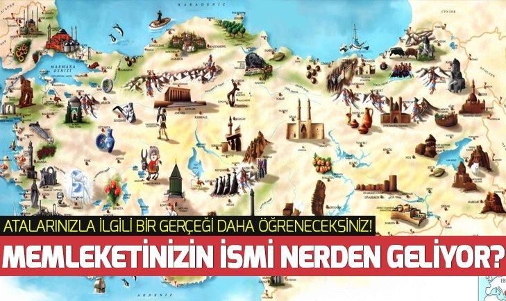 Türkiye'deki şehirlerin eski isimleri!