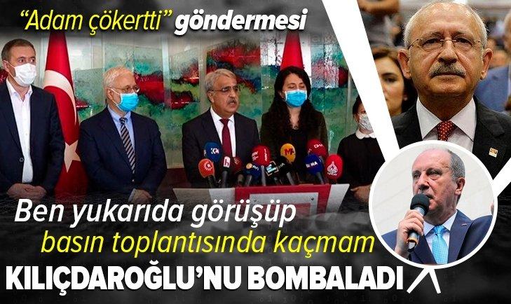 Son dakika: Muharrem İnce'den Kılıçdaroğlu'na çok sert HDP eleştirisi: Ben yukarıda görüşüp basın toplantısında kaçmam