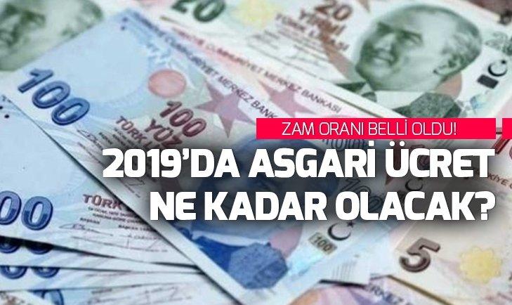 Asgari ücret ne kadar olacak? 2019 Asgari ücret kaç TL? Ocak ayı Asgari ücret zammı belli mi?