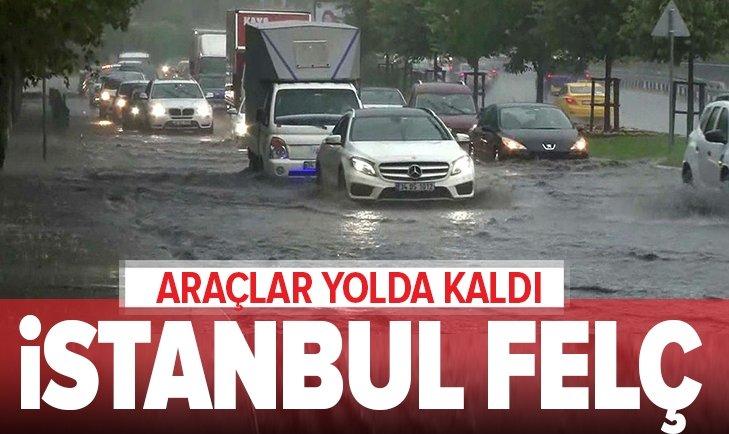 İSTANBUL'DA SAĞANAK YAĞIŞ ETKİLİ OLDU! METEOROLOJİ SON DAKİKA UYARISI