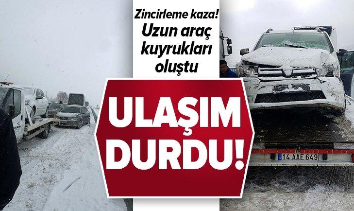 KARABÜK-GEREDE KARAYOLUNDA TRAFİK DURDU